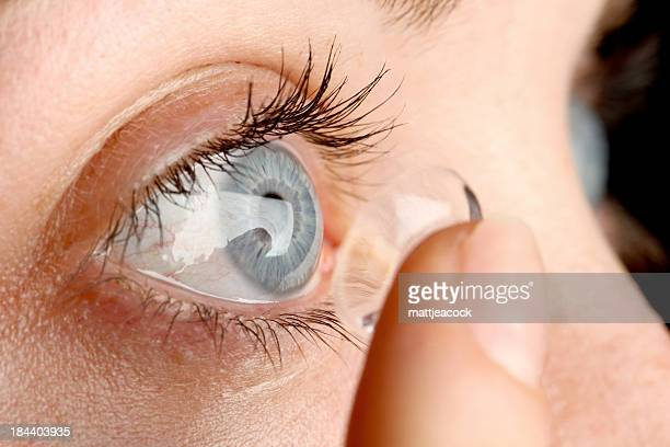 contact lens - contacts stock photos and pictures