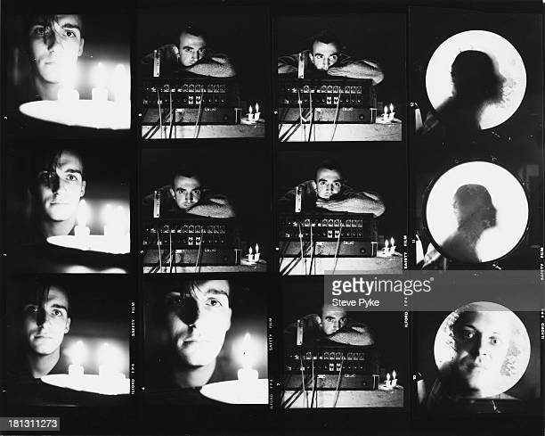 A contact sheet depicting British experimental music group Psychic TV at the Easy Rehearsal Rooms Islington London 30th October 1983 The musicians...