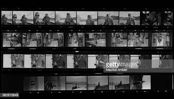 Contact sheet depicting transsexual Roberta Cowell, formerly Robert Cowell, March 1954. Roberta was once a Spitfire pilot, prisoner-of-war, racing...