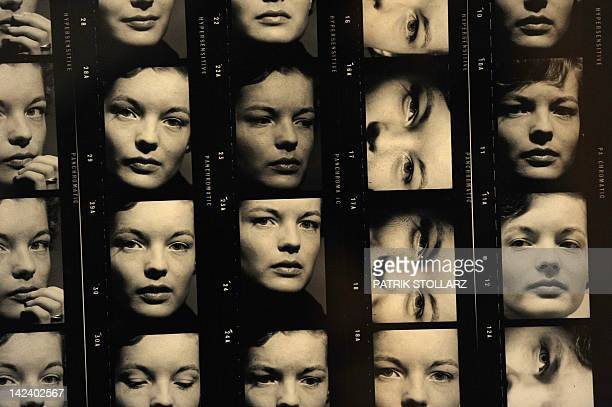 A contact sheet from the year 1961 taken by German photographer FCGundlach of Austrian born actress Romy Schneider who died in 1982 is on display at...