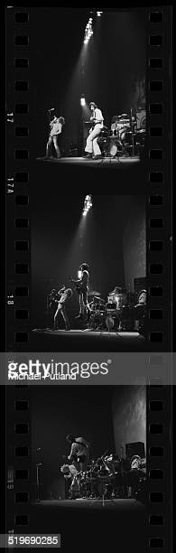 A contact strip depicting English rock group The Who performing at the Rainbow Theatre London November 1971