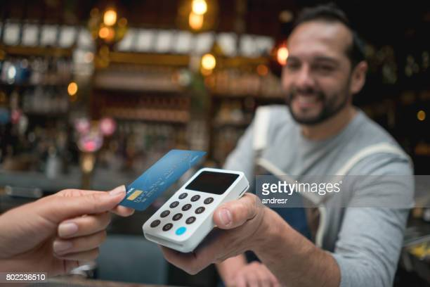 Contactless payment at a restaurant