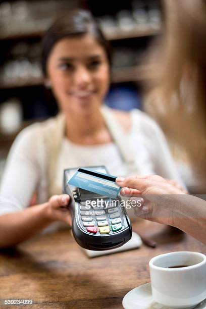 Contactless payment at the cafe