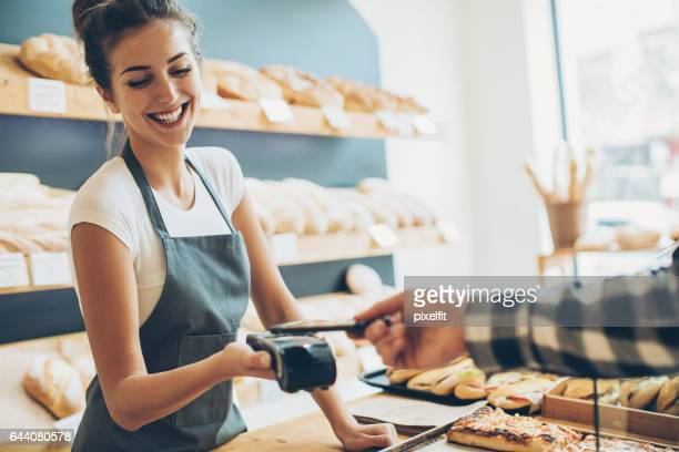 Contactless payment in the bakery