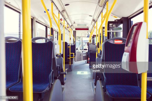 contactless ticket machine in bus - pole stock pictures, royalty-free photos & images