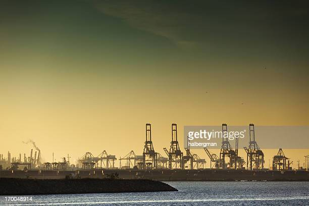 Container Cranes at Port of Los Angeles