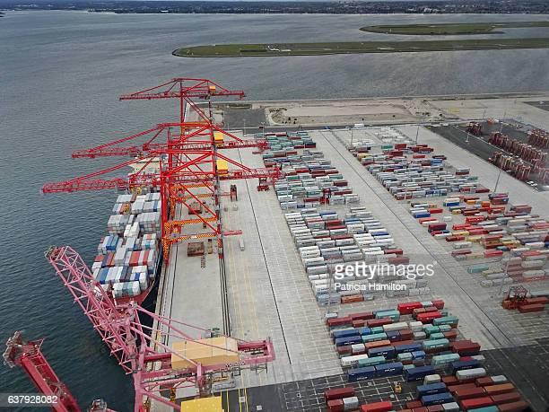 Container docks, Botany Bay, Sydney, aerial shot