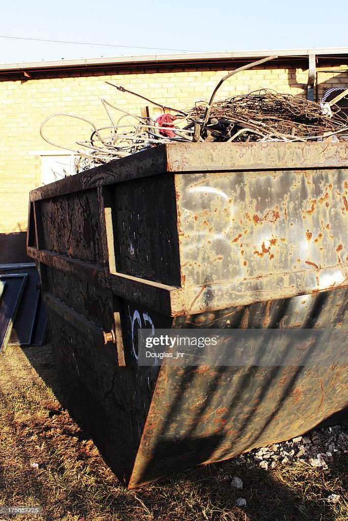 Container Full Of Scrap Metal Stock Photo - Getty Images