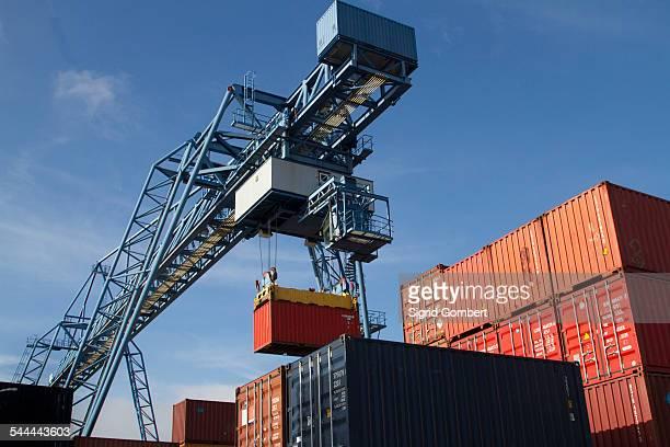 Container port, Basel, Switzerland