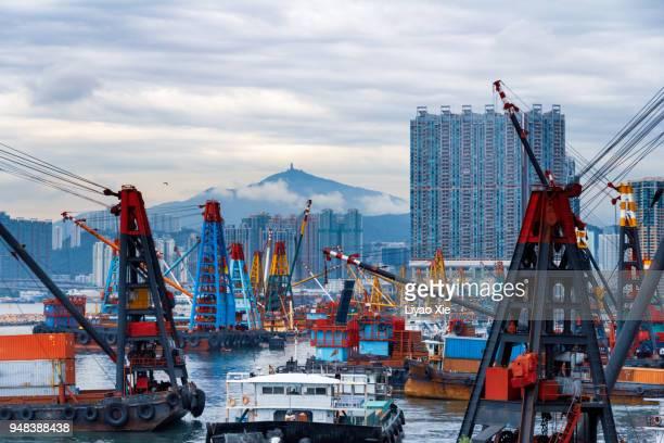 container port - liyao xie fotografías e imágenes de stock