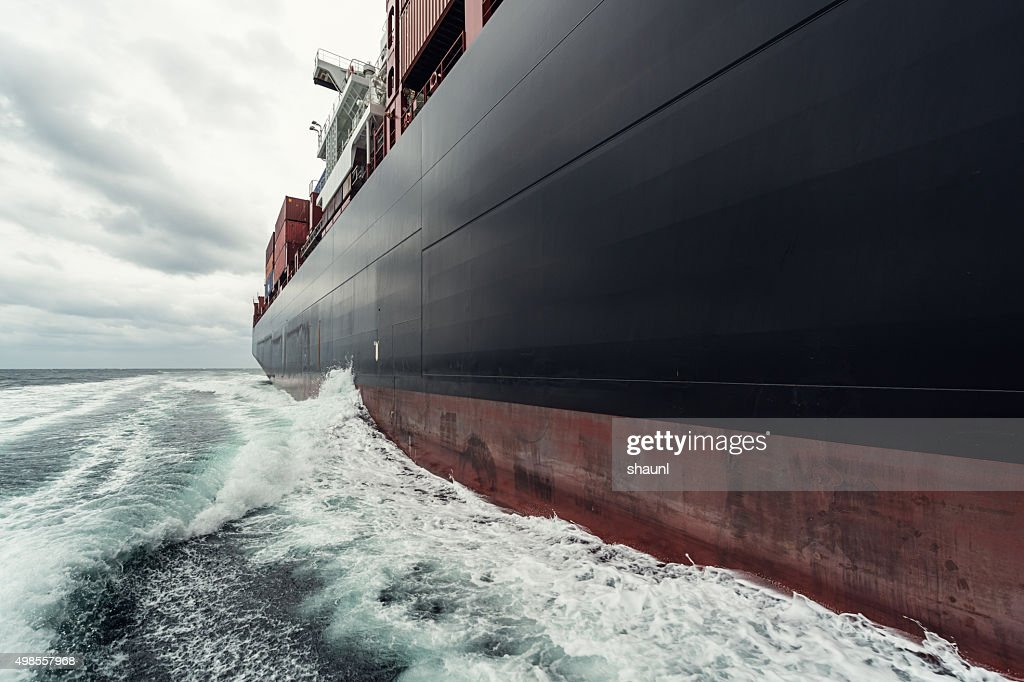 Container Ship at Sea : Stock Photo