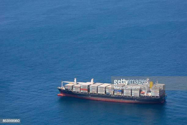 container ship at sea - maersk stock pictures, royalty-free photos & images