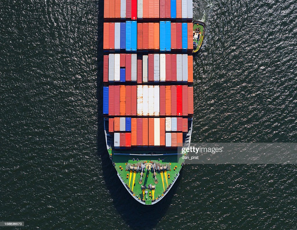 Container Ship Bow : Stock Photo