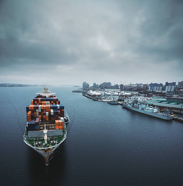 Container Ship In Halifax Harbour Wall Art