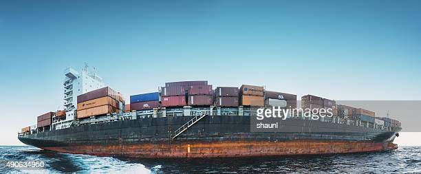 Container Ship in the Atlantic