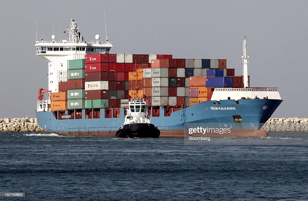 The Port Of Haifa : News Photo