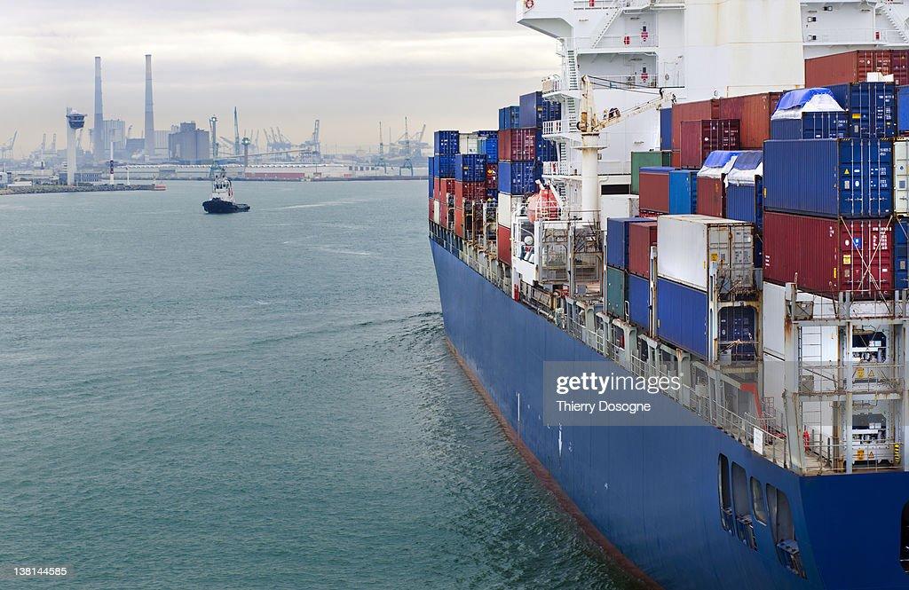 Container ship : Foto de stock
