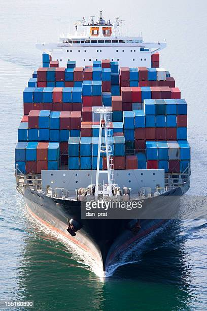 container ship - cargo ship stock pictures, royalty-free photos & images