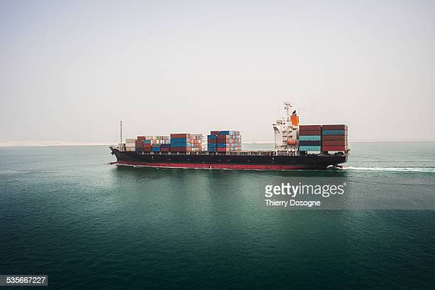 container ship - suez canal stock pictures, royalty-free photos & images