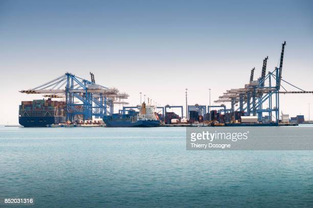 container ship - harbour stock pictures, royalty-free photos & images
