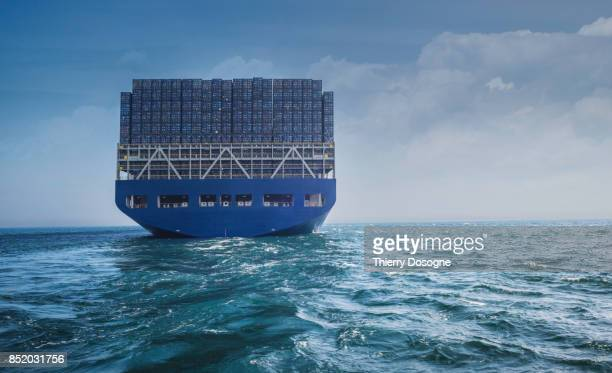 container ship - industrial ship stock pictures, royalty-free photos & images