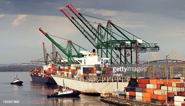 container ships - harbour stock pictures, royalty-free photos & images