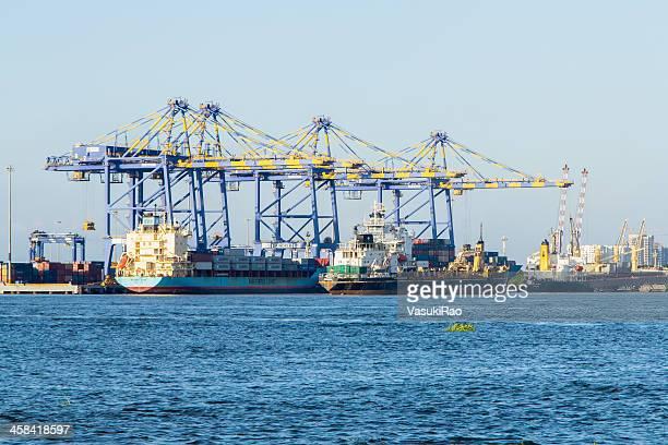 Container terminal at Kochi, India