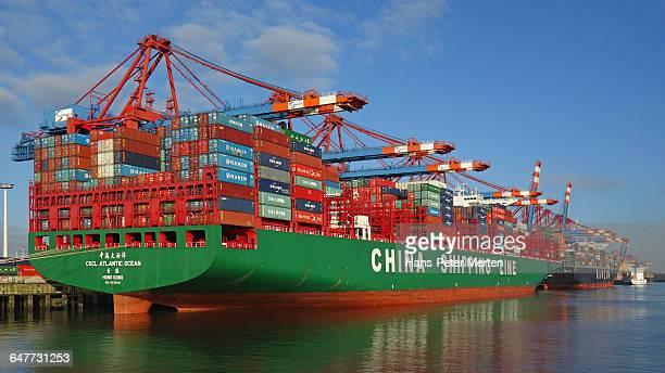 container terminal Eurokai, harbour of Hamburg