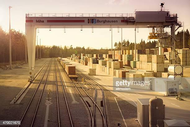 Container Terminal in upper bavaria / Burghausen