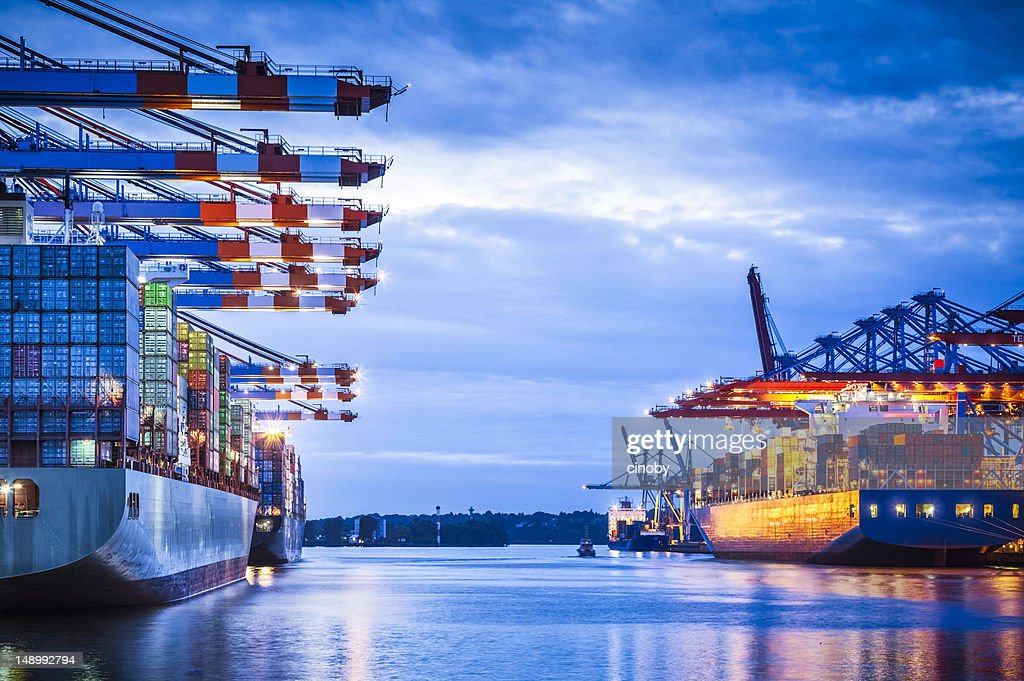 Container Terminal : Stock Photo