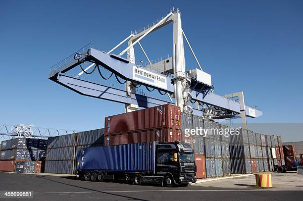 container terminal - george handel stock pictures, royalty-free photos & images