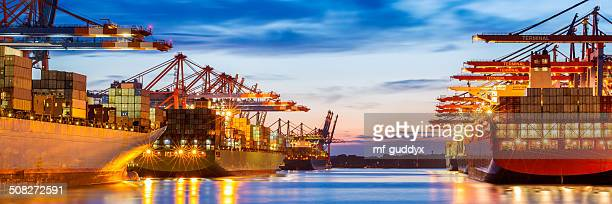 container terminal - cargo ship stock pictures, royalty-free photos & images