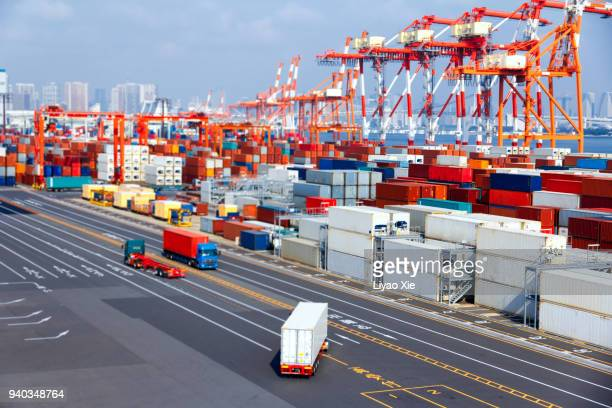 container terminal - station stock pictures, royalty-free photos & images