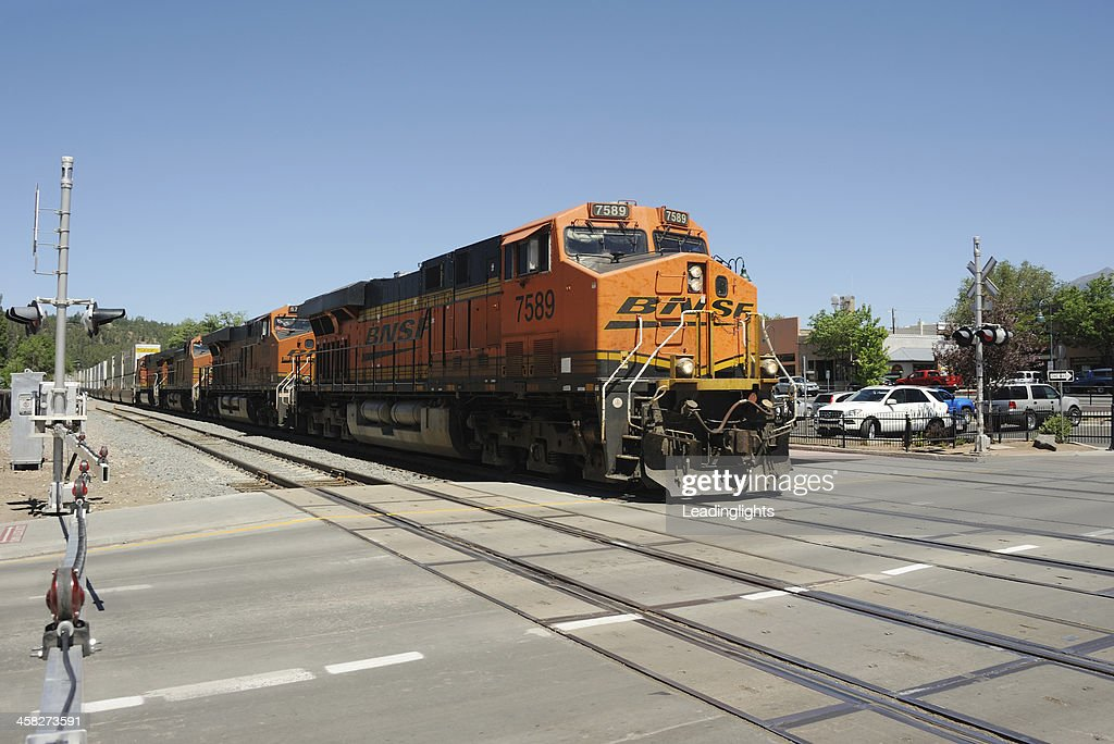 BNSF Container Train at Flagstaff : Stock Photo