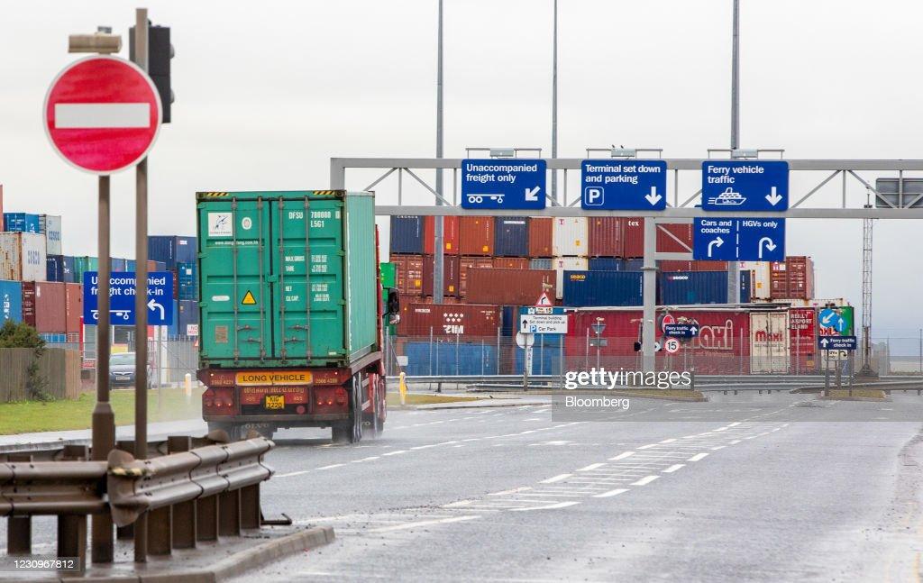 Tensions Rising at Border After EU Threat To Impose Checks : News Photo