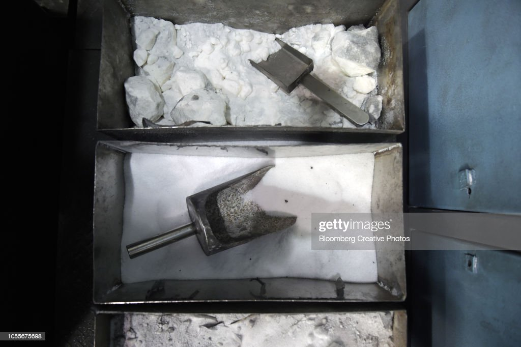 containers filled with niter and borax stock photo getty images