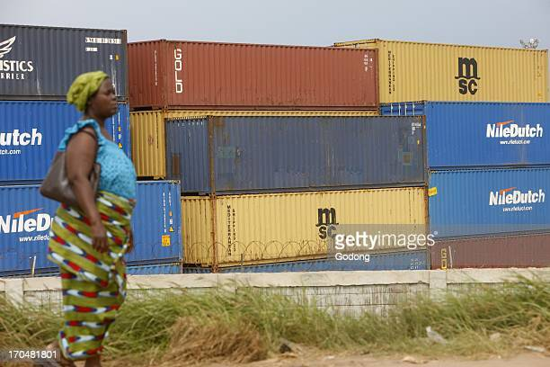Containers in Lome harbour Togo Ville Togo