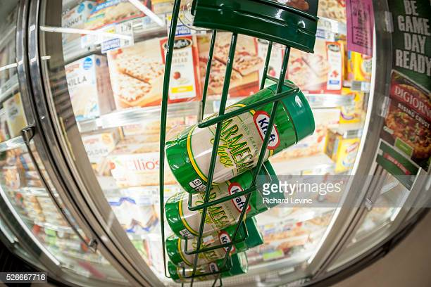 Containers of Kraft brand Parmesan cheese in a supermarket in New York on Tuesday, February 16, 2016. An investigation by Bloomberg News found that...