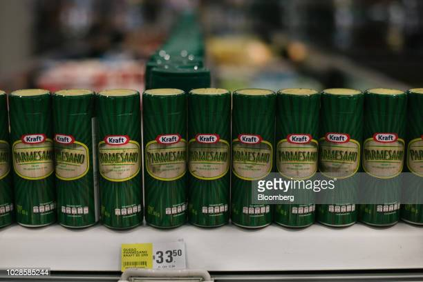 Containers of Kraft Heinz Co Parmesan cheese sit on display for sale at a supermarket in Mexico City Mexico on Sunday Aug 12 2018 The Trump...