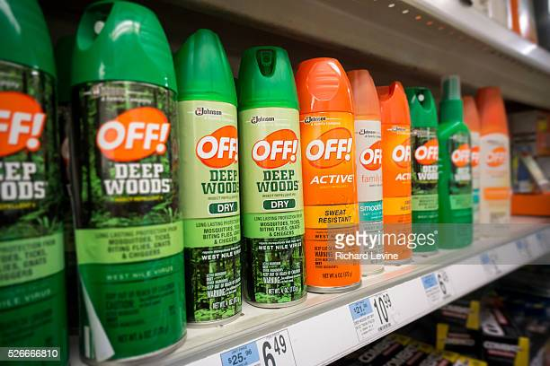 Containers of OFF brand insect repellent on a store shelf in New York on Thursday January 28 2016 The World Health Organization warns that the Aedes...