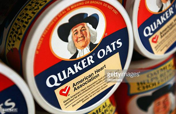Containers of Quaker Oats are seen on the shelves of an Associated Supermarket in New York Tuesday, July 12, 2005. PepsiCo Inc. Said second-quarter...