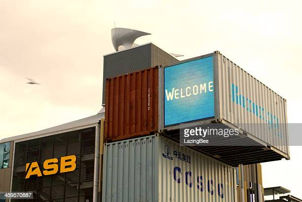 Containers on Silo Park, Auckland's Waterfront Attraction, NZ