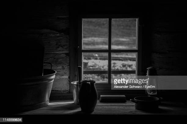 containers on table against window at home - still life stock pictures, royalty-free photos & images