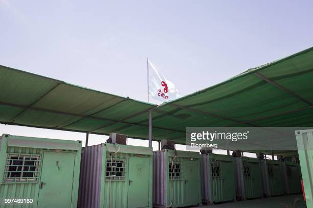 Containers sit in a workers camp operated by China Overseas Ports Holding Co in Gwadar Balochistan Pakistan on Tuesday July 4 2018 What used to be a...
