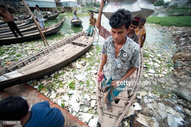 Contaminated water in Karial slum, one of the urban slums of Dhaka: Every year, contaminated water is the cause of 5 million deaths. This is more...