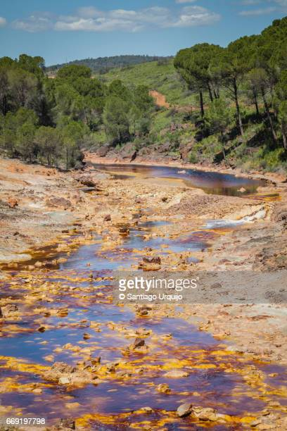 Contaminated water in Rio Tinto river