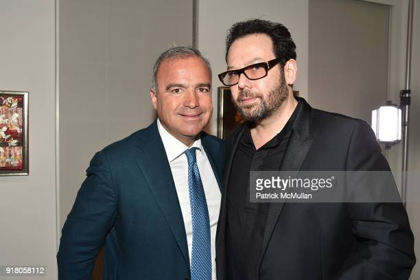 Conte and Neil Grayson attend Neil Grayson Industrial Melanism solo exhibition at Eykyn Maclean Gallery on February 13 2018 in New York City