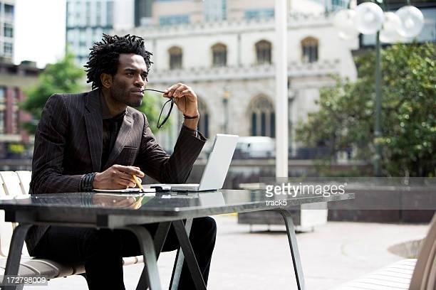 contemplation - afro caribbean ethnicity stock pictures, royalty-free photos & images