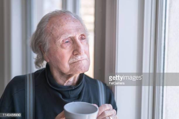Contemplative elderly man