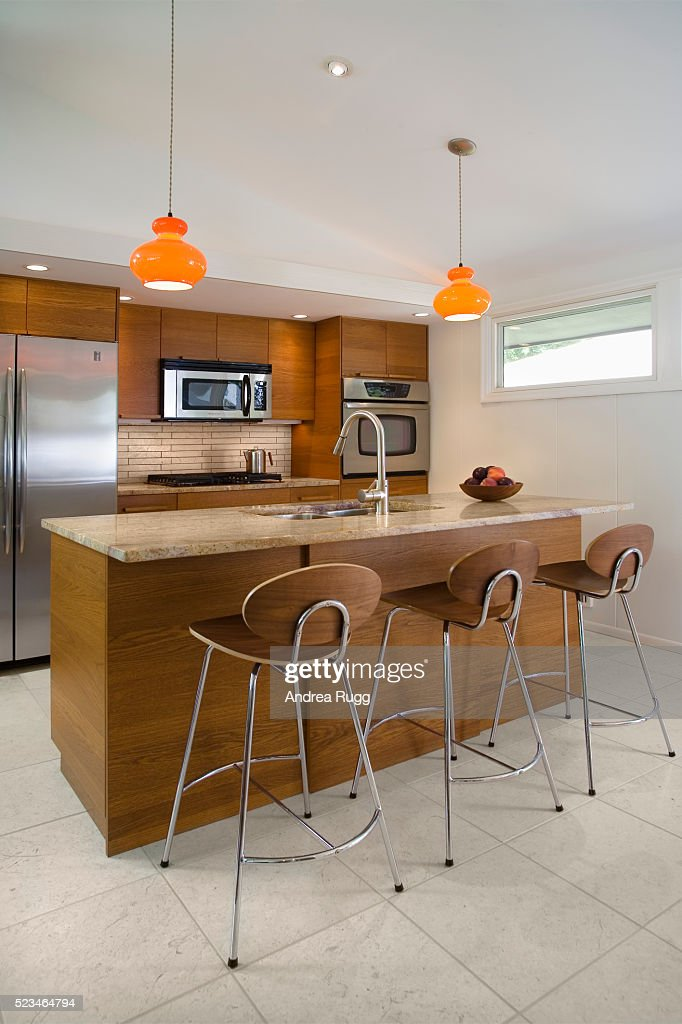 Contemporary 1950s Style Kitchen : Stock Photo